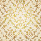 Vector seamless floral pattern in Eastern style. Stock Image
