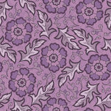 Vector seamless floral pattern with fantasy blooming flowers Stock Photography