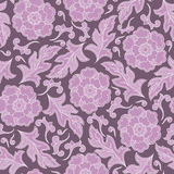 Vector seamless floral pattern with fantasy blooming flowers Stock Images