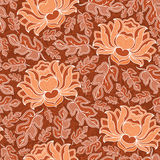 Vector seamless floral pattern with fantasy blooming flowers Stock Image