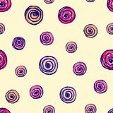 Vector seamless floral pattern with flowers, Hand drawn contour lines and strokes Doodle sketch style, graphic vector drawing illu Royalty Free Stock Photo
