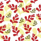 Vector seamless floral pattern with flowers on white background Royalty Free Stock Images