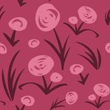 Seamless floral pattern. Vector seamless floral pattern. Hand drawn flowers background Royalty Free Stock Images