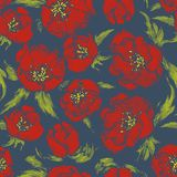 Vector seamless floral pattern Royalty Free Stock Photography