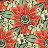 Vector Seamless Floral Pattern Royalty Free Stock Images