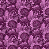 Vector Seamless Floral Pattern Royalty Free Stock Photo
