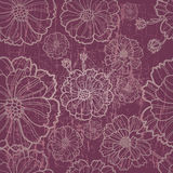 Vector seamless  floral pattern with herbarium Stock Photos