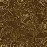 Vector seamless floral pattern with herbarium Stock Photography