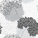 Vector seamless floral pattern with  hydrangea. Stock Image
