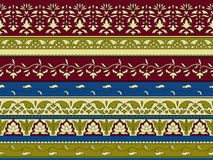 Vector seamless floral pattern, indian style Royalty Free Stock Images