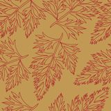 Pattern with leafs Stock Photo