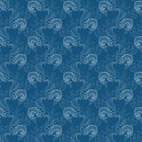 Vector seamless floral pattern with lilies of the Royalty Free Stock Images