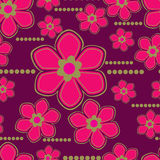 Vector Seamless floral pattern with lilly flower Royalty Free Stock Image