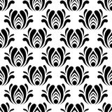 Vector seamless  floral pattern. Royalty Free Stock Photo