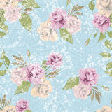Vector seamless floral pattern with pastel pink roses Stock Photos