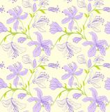 Vector seamless floral pattern Stock Image
