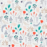 Vector seamless floral pattern. Romantic cute Stock Photos