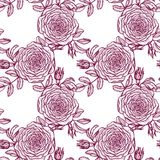 Vector seamless floral pattern with rose Royalty Free Stock Photos