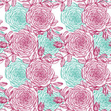 Vector seamless floral pattern with rose Royalty Free Stock Photography