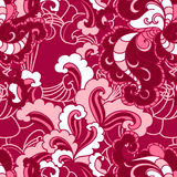 Vector seamless floral  pattern with swirls Royalty Free Stock Photos