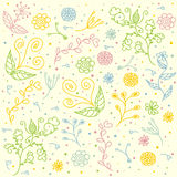 Vector Seamless Floral Pattern for Textile Design Royalty Free Stock Photo