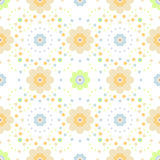 Vector Seamless floral pattern on white background. Seamless floral pattern in pastel color Stock Photo
