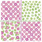Vector seamless  floral patterns. Stock Photography