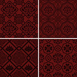 Vector seamless floral patterns, indian style Stock Photo