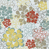 Vector seamless floral retro background Royalty Free Stock Image