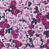 Vector seamless floral retro pattern Stock Image