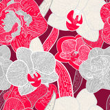 VEctor seamless floral texture Stock Photography