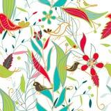 Vector seamless floral texture Stock Photo