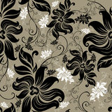 Vector Seamless floral twirled pattern Royalty Free Stock Photography