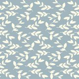 Vector seamless floral vintage pattern with leaves Stock Image