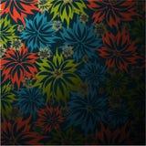 Vector seamless floral wallpaper Royalty Free Stock Photos