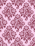 Vector seamless floral wallpaper Stock Photography
