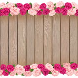 Vector Seamless Flower Frame. Isolated on white background Royalty Free Stock Image
