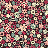 Vector seamless flower pattern background Stock Image