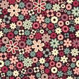 Vector seamless flower pattern background vector illustration
