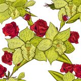 Vector seamless flower pattern. For cards, textiles, backgrounds Royalty Free Stock Photos