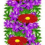 Vector seamless flower pattern Royalty Free Stock Photography