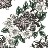 Vector seamless flower pattern Stock Image