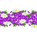 Vector seamless flower pattern Royalty Free Stock Image