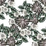 Vector seamless flower pattern Stock Photo