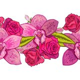 Vector seamless flower pattern. For cards, textiles, backgrounds Royalty Free Stock Photography