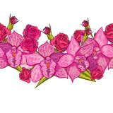 Vector seamless flower pattern. For cards, textiles, backgrounds Stock Image