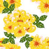 Vector seamless flower pattern Stock Photos