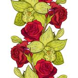 Vector seamless flower pattern. For cards, textiles, backgrounds Stock Images