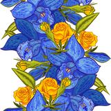 Vector seamless flower pattern. For cards, textiles, backgrounds Stock Photography