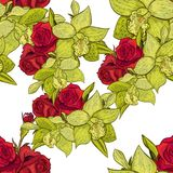 Vector seamless flower pattern. For cards, textiles, backgrounds Royalty Free Stock Photo